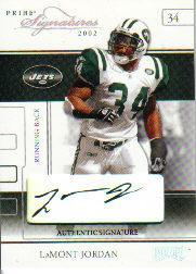 2002 Playoff Prime Signatures Autographs #22 LaMont Jordan/115