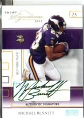 2002 Playoff Prime Signatures Autographs #29 Michael Bennett/250