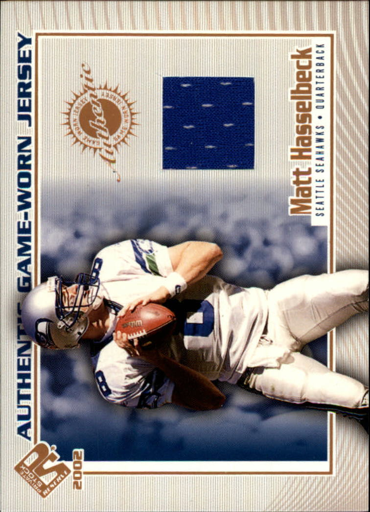 2002 Private Stock Game Worn Jerseys #111 Matt Hasselbeck