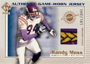 2002 Private Stock Game Worn Jerseys Patches #73 Randy Moss/201