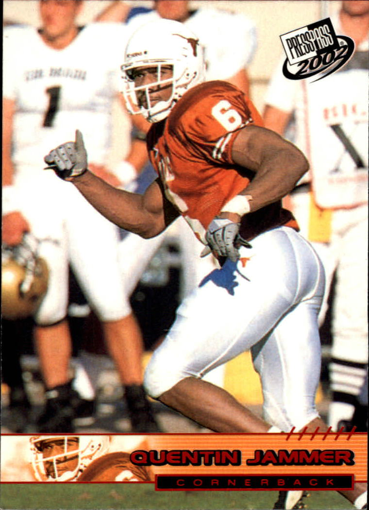 2002 Press Pass Torquers #38 Quentin Jammer