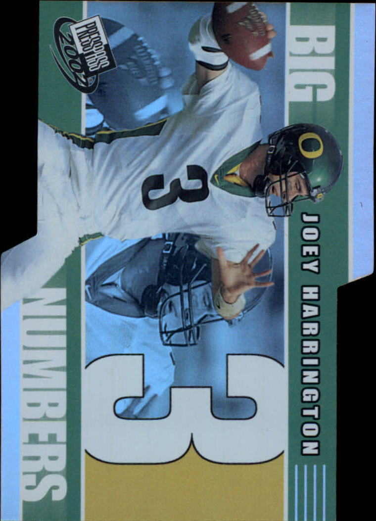 2002 Press Pass Big Numbers #BN4 Joey Harrington