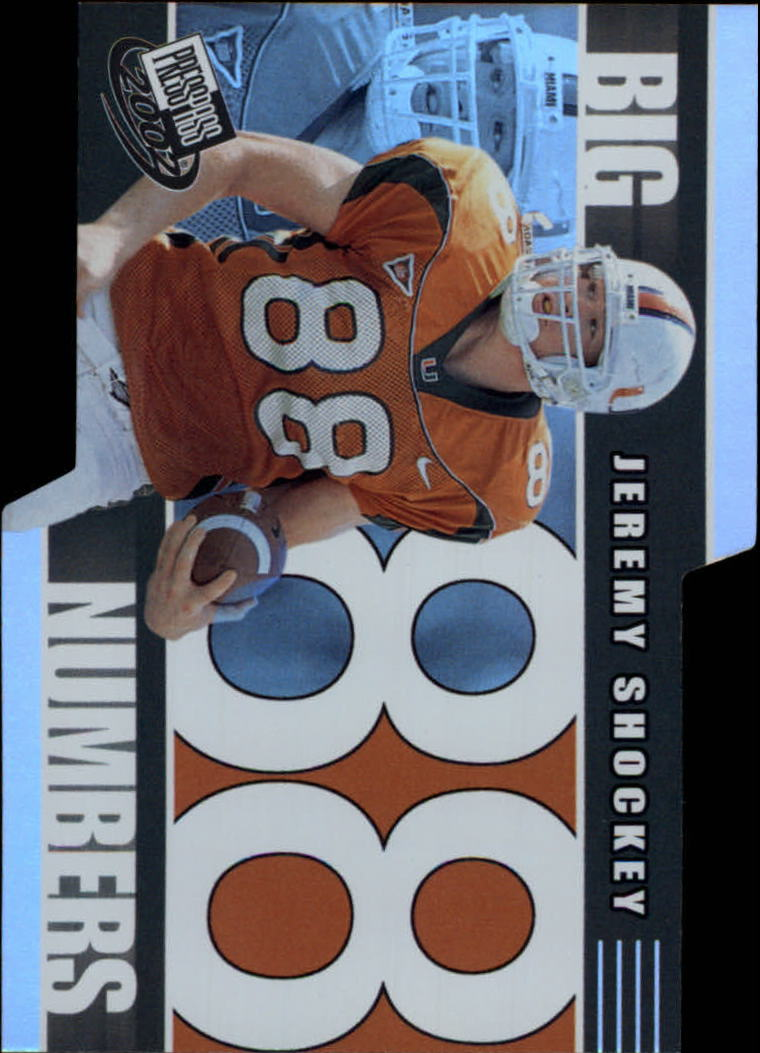 2002 Press Pass Big Numbers #BN26 Jeremy Shockey