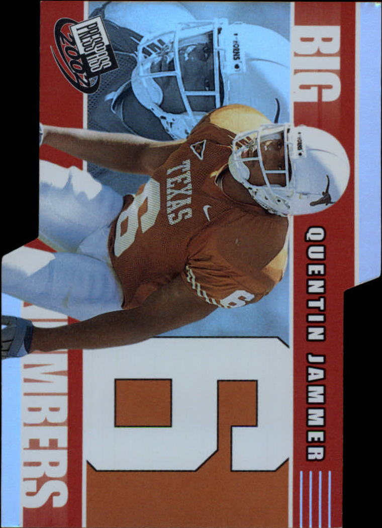 2002 Press Pass Big Numbers #BN30 Quentin Jammer