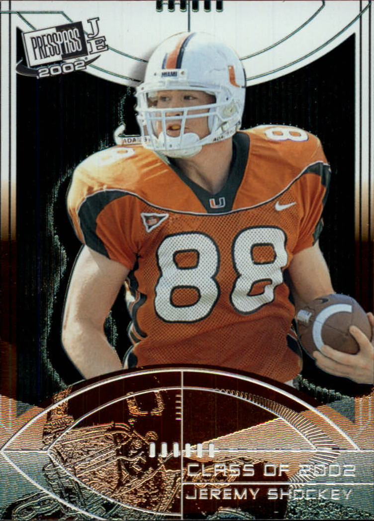 2002 Press Pass JE Class of 2002 #CL8 Jeremy Shockey front image