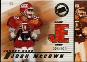 2002 Press Pass JE Game Used Jerseys #JEJM Josh McCown