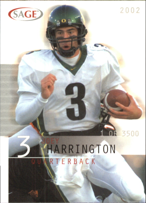 2002 SAGE #18 Joey Harrington