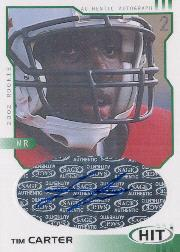 2002 SAGE HIT Autographs Emerald #H2 Tim Carter