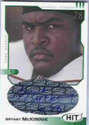 2002 SAGE HIT Autographs Emerald #H22 Bryant McKinnie