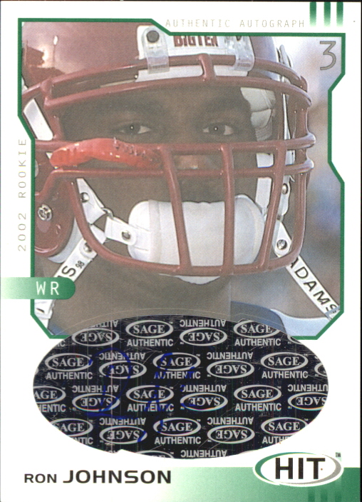2002 SAGE HIT Autographs Emerald #H33 Ron Johnson
