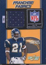 2002 Score Franchise Fabrics #16 LaDainian Tomlinson