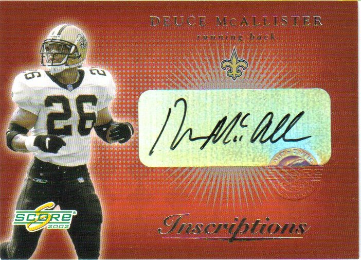 2002 Score Inscriptions #12 Deuce McAllister/125*