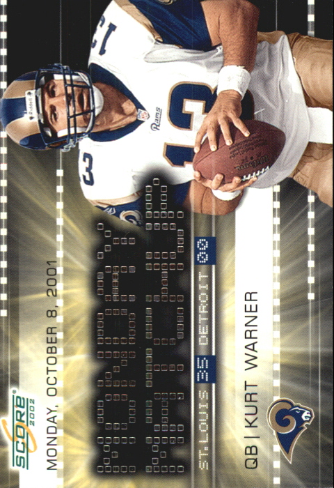 2002 Score Monday Matchups #4 Kurt Warner