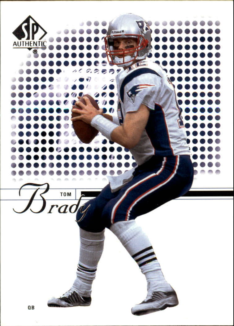 2002 SP Authentic #1 Tom Brady