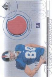 2002 SP Authentic #223 Jeremy Shockey JSY RC