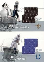 2002 SP Authentic Threads Doubles #AT2SM Donte Stallworth/Peyton Manning