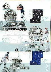 2002 SP Authentic Threads Triples #AT3CC David Carr/Eric Crouch/Peyton Manning