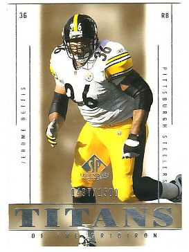 2002 SP Legendary Cuts #105 Jerome Bettis TG
