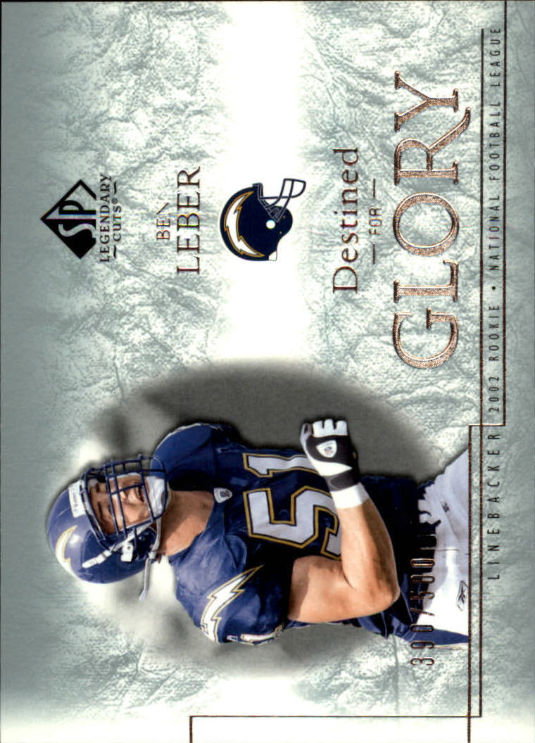 2002 SP Legendary Cuts #125 Ben Leber RC