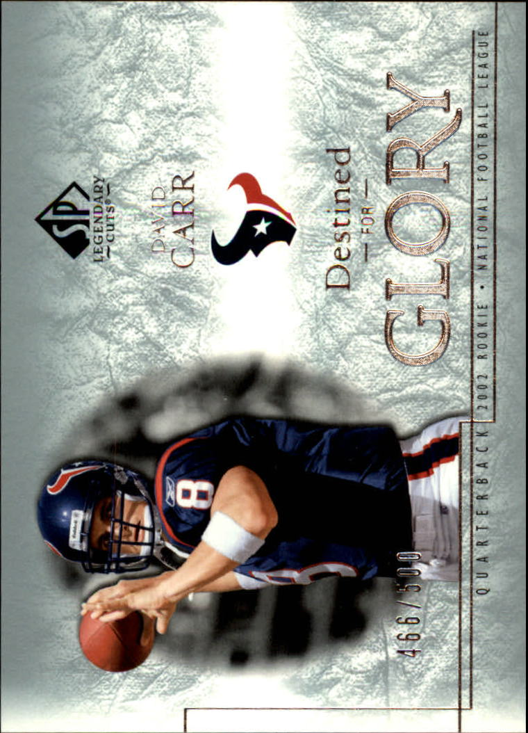 2002 SP Legendary Cuts #128 David Carr RC