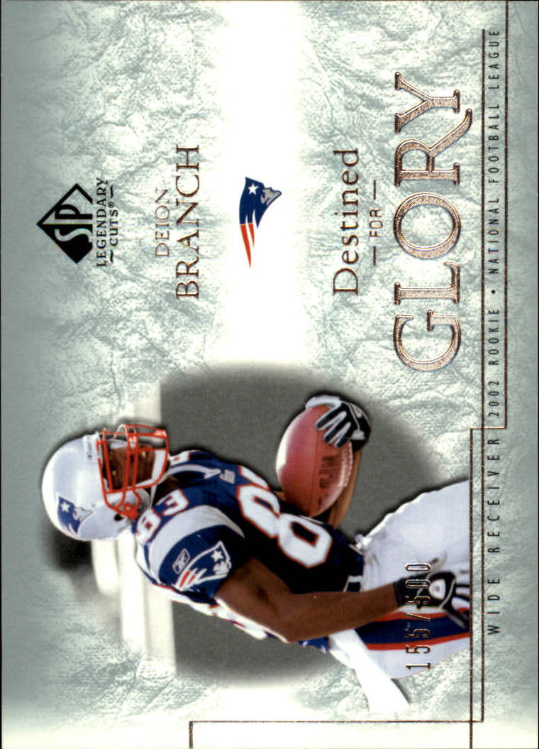 2002 SP Legendary Cuts #129 Deion Branch RC