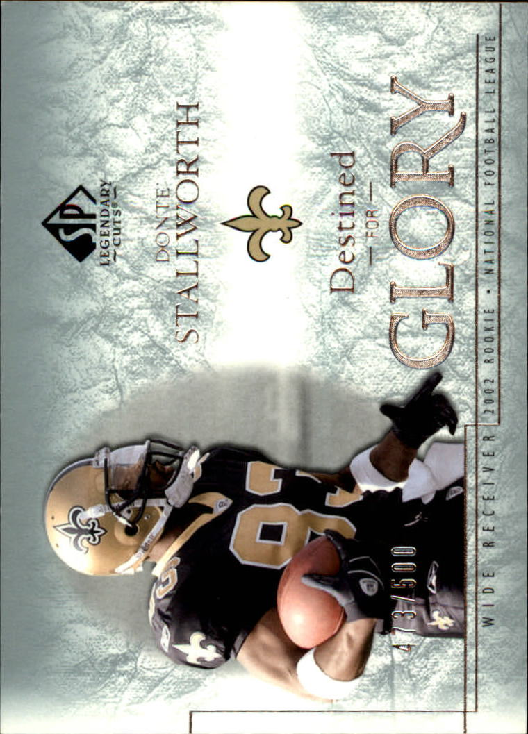 2002 SP Legendary Cuts #131 Donte Stallworth RC