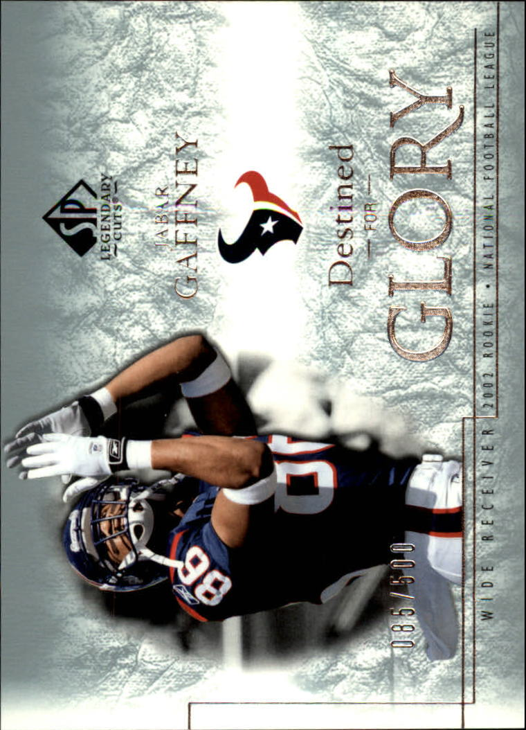 2002 SP Legendary Cuts #132 Jabar Gaffney RC