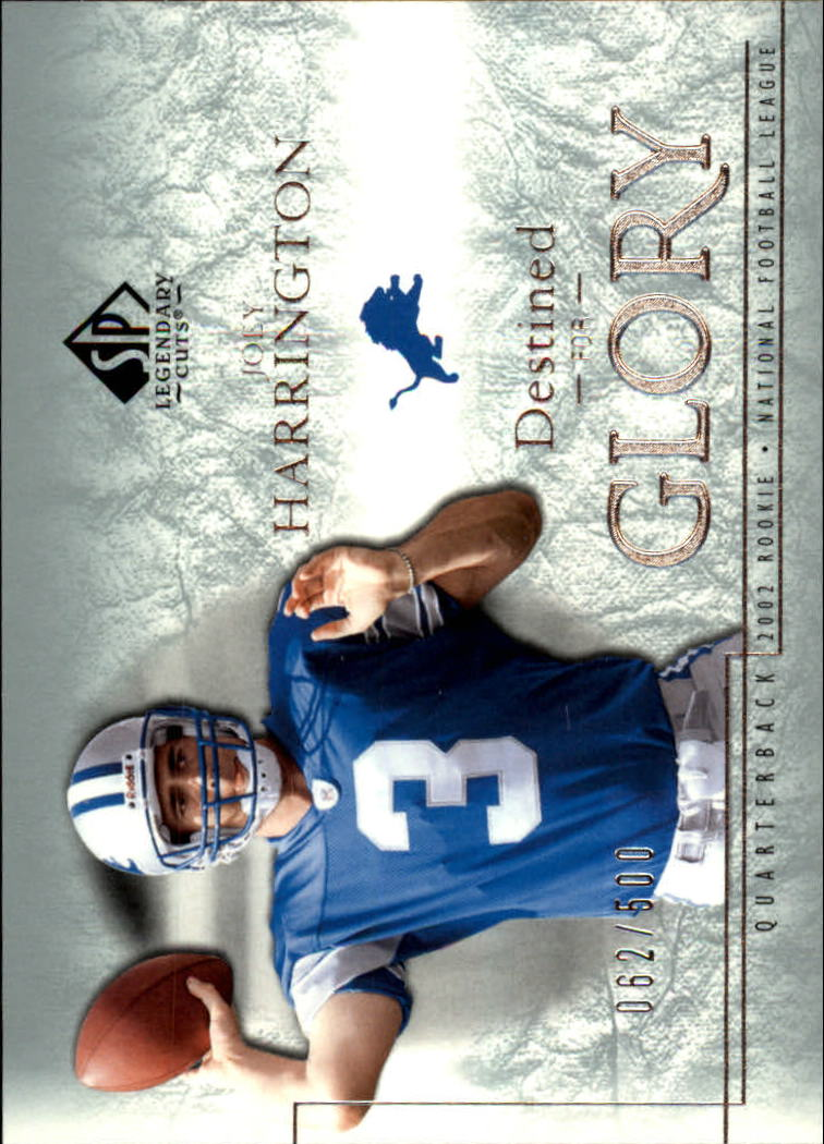 2002 SP Legendary Cuts #135 Joey Harrington RC
