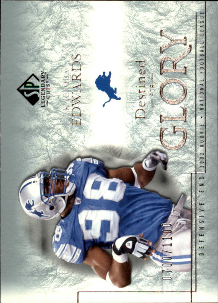2002 SP Legendary Cuts #179 Kalimba Edwards RC