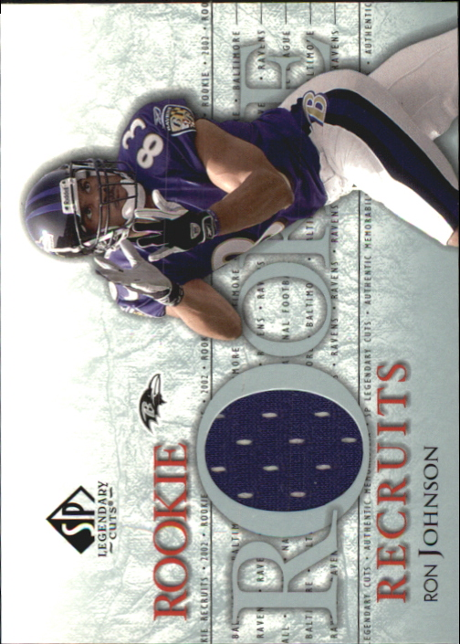 2002 SP Legendary Cuts Rookie Recruits Jerseys #RRRJ Ron Johnson