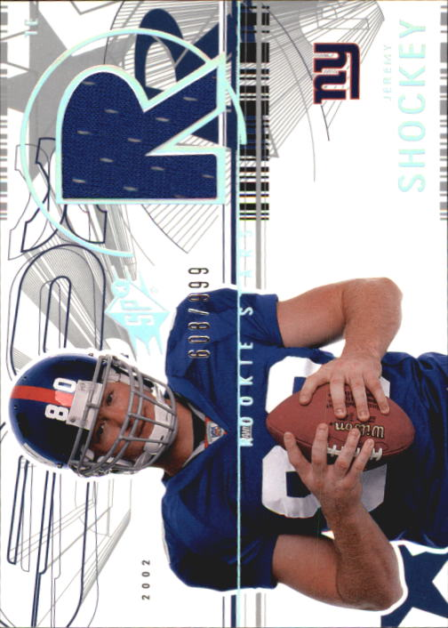 2002 SPx #169 Jeremy Shockey JSY RC