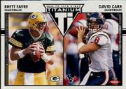2002 Titanium Retail #128 Brett Favre/David Carr RC
