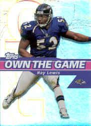 2002 Topps Own The Game #OG27 Ray Lewis