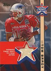 2002 Topps Pro Bowl Jerseys #APTB Tom Brady