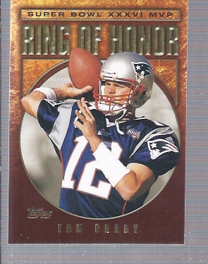 2002 Topps Ring of Honor #TB36 Tom Brady