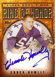 2002 Topps Ring of Honor Autographs #RHCH Chuck Howley