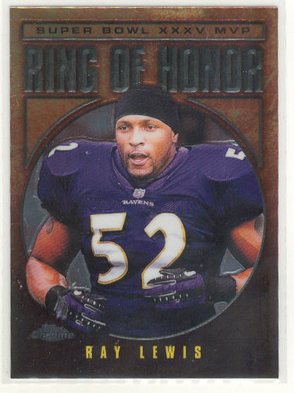 2002 Topps Chrome Ring of Honor #RL35 Ray Lewis