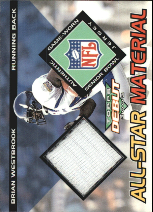 2002 Topps Debut All-Star Materials #AMBW Brian Westbrook