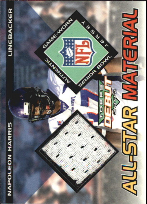 2002 Topps Debut All-Star Materials #AMNH Napoleon Harris