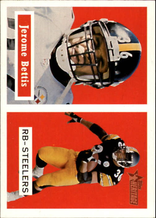2002 Topps Heritage Black Backs #1 Jerome Bettis