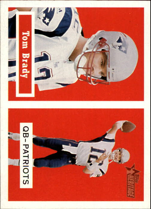 2002 Topps Heritage Black Backs #50 Tom Brady