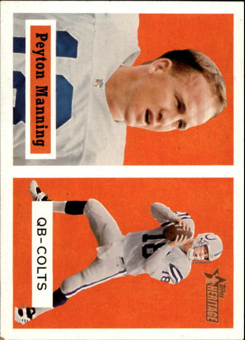 2002 Topps Heritage Black Backs #86 Peyton Manning