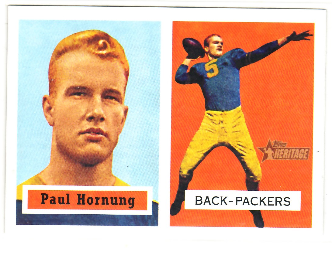 2002 Topps Heritage 1957 Reprints #RPH Paul Hornung