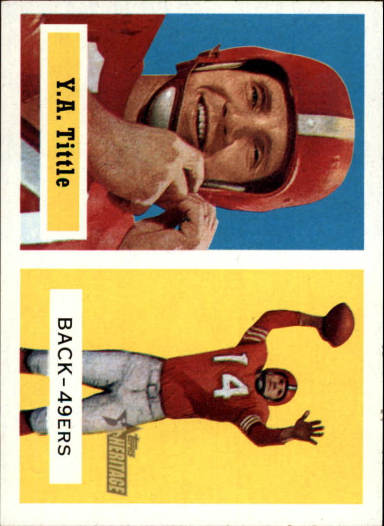 2002 Topps Heritage 1957 Reprints #RYT Y.A. Tittle
