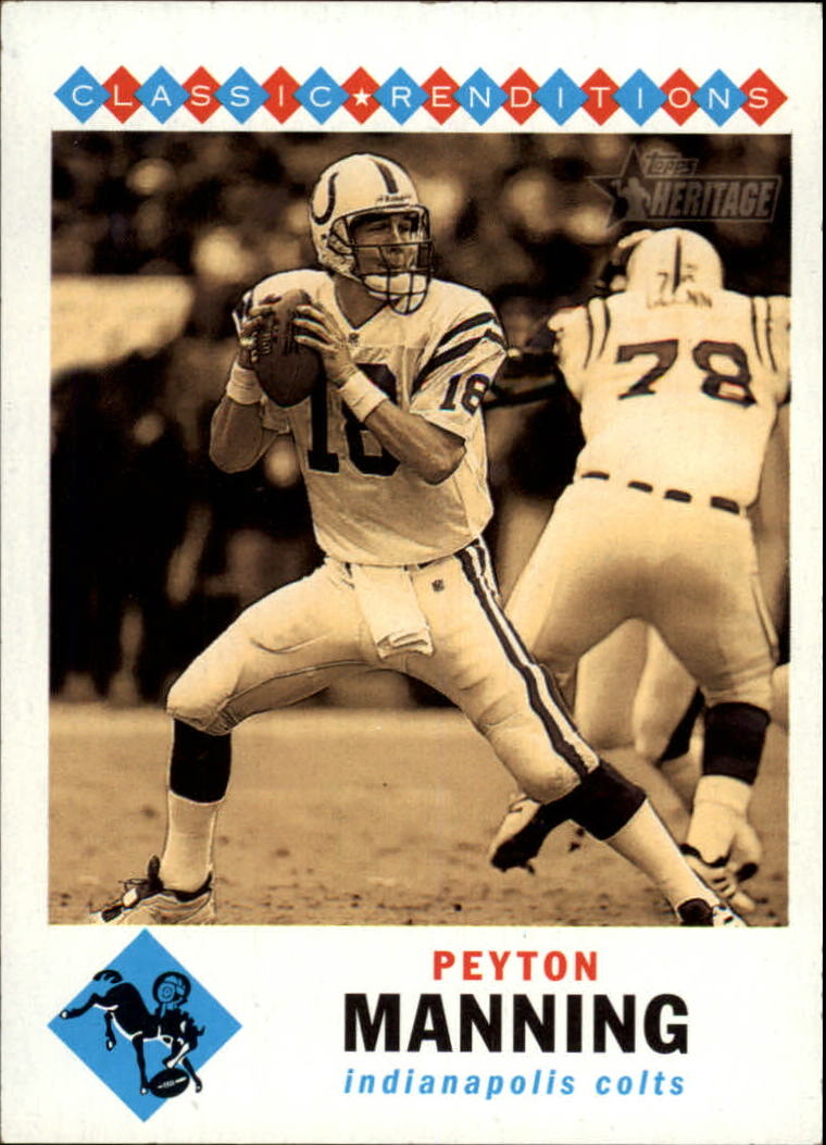 2002 Topps Heritage Classic Renditions #CRPM Peyton Manning