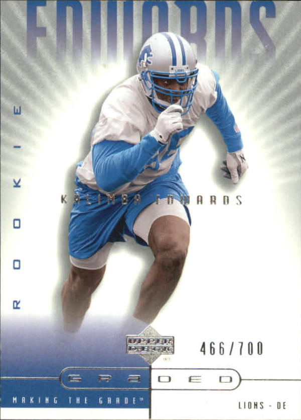 2002 UD Graded #96 Kalimba Edwards A RC