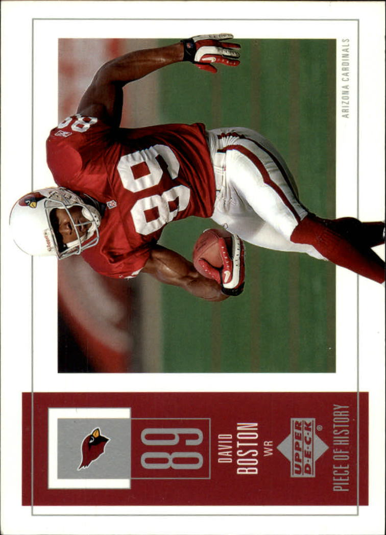 2002 UD Piece of History #1 David Boston