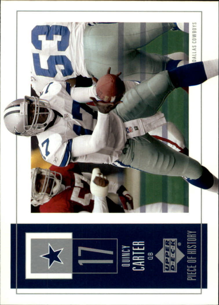 2002 UD Piece of History #27 Quincy Carter