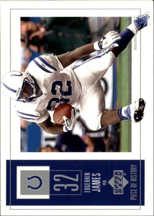 2002 UD Piece of History #41 Edgerrin James