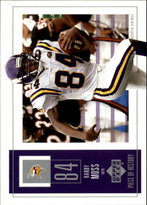2002 UD Piece of History #55 Randy Moss